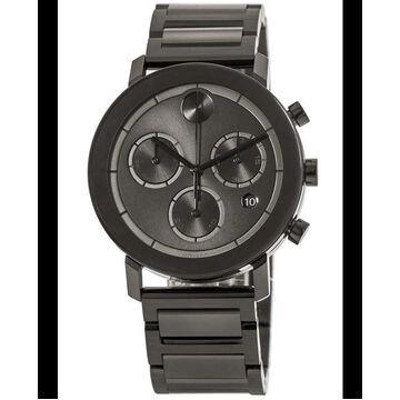 Movado Bold Chronograph Grey Dial Steel Men's Watch 3600685 3600685