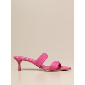 Pallera Manolo Blahnik sandals in nappa leather