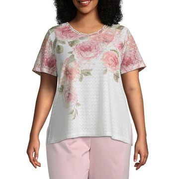 Society Page Alfred Dunner Floral Top - Plus