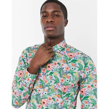 Selected Homme Moseby slim fit floral print shirt-Blues