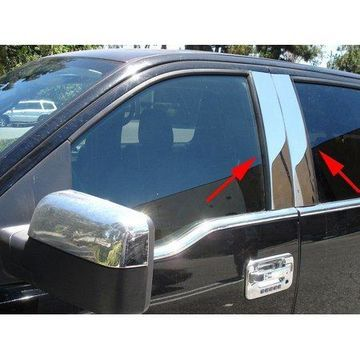 Int Trim44705PPT Body Pillar Cover Polished; Stainless Steel; 4 Piece