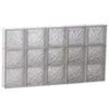 REDI2SET Ice Glass Pattern Frameless Replacement Glass Block Window (Rough Opening: 40-in x 24-in; Actual: 38.75-in x 23.25-in)