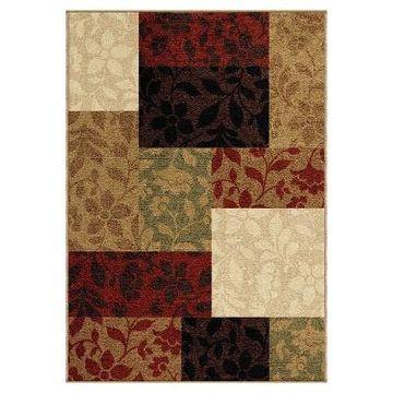 Orian Rugs Floral Quilt Napa Indoor/Outdoor Area Rug (5'2