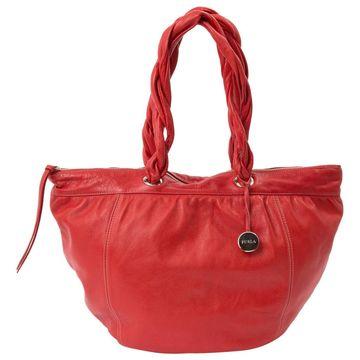 Furla Red Leather Handbags