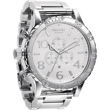 Nixon Men's 51-30 Chrono A083488 White Stainless-Steel Japanese Quartz Fashion Watch