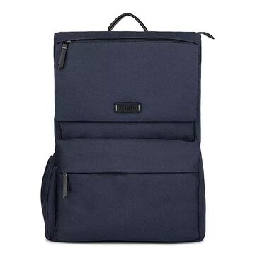 Bugatti Reborn Collection Recycled RFID-Blocking Backpack, Blue