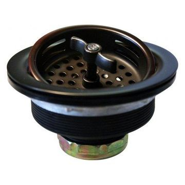 Wing Nut Style Large Kitchen Basket Strainer, Oil Rubbed Bronze