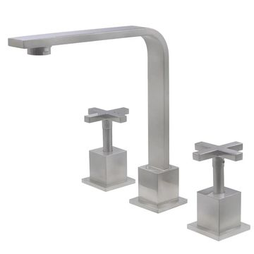 Novatto MULD Widespread 2-Handle Lavatory Faucet in Brushed Nickel (Silver)