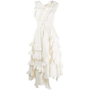 Linnea asymmetric midi dress