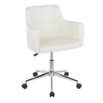 LumiSource Andrew Office Chair in White