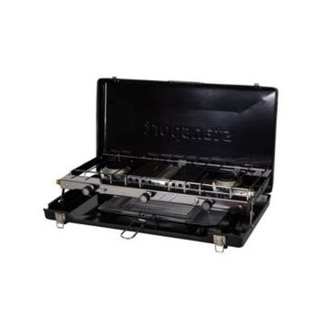 Stansport 2-Burner Propane Camp Stove With Infrared Broiler