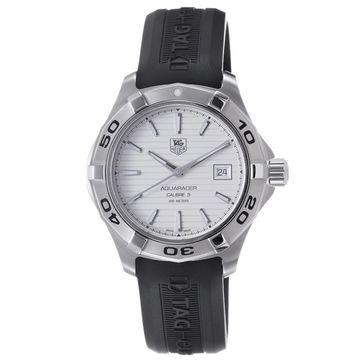 Tag Heuer Men's WAP2011.FT6027 'Aquaracer' Automatic Black Rubber Watch