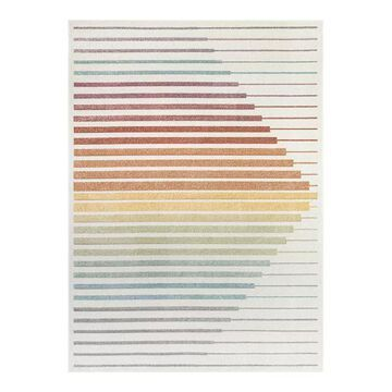 Well Woven Whoa Opal Scandinavian Geometric High-Low Area Rug, Multicolor, 8X10 Ft