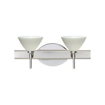 Besa Lighting 2SW-1743KR Domi 2 Light Reversible Bathroom Vanity Light