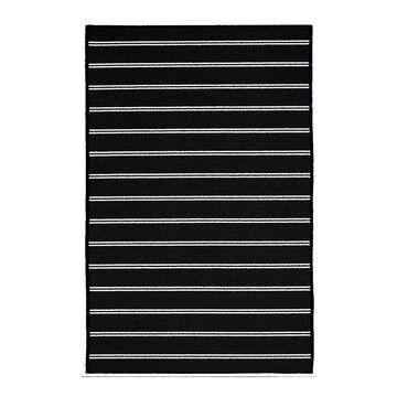 Garland Rug Avery Striped Rug, Black, 4X6 Ft