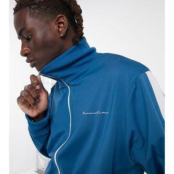 Reclaimed Vintage inspired track jacket in blue