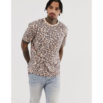 Another Influence animal print boxy t-shirt
