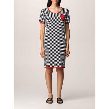 Love Moschino checked cotton dress