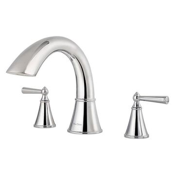 Pfister Pfister Saxton Polished Chrome 2-Handle Residential Deck Mount Roman Bathtub Faucet