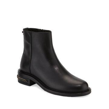 Addison Weatherproof Leather Zip Booties