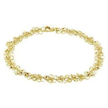 Mondevio 14k Gold 6.5MM Rolo Chain Necklace (Yellow)
