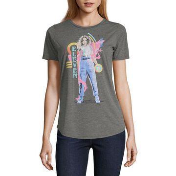 Mighty Fine Womens Crew Neck Short Sleeve Graphic T-Shirt - Juniors