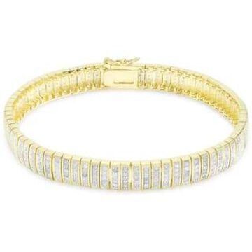 Finesque Overlay 1ct TDW Diamond Bracelet (7.25 Inch - Yellow)