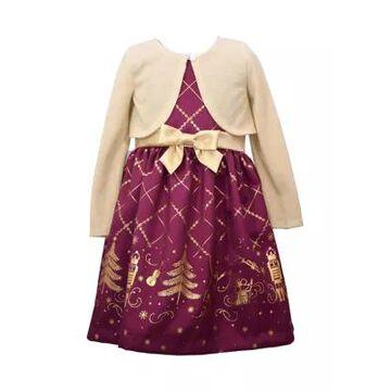 Bonnie Jean Girls' Girls 7-16 Nutcracker Dress With Cardigan Set - -