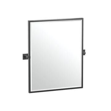Gatco Elevate 25-Inch x 23.63-Inch Rectangular Framed Mirror in Matte Black