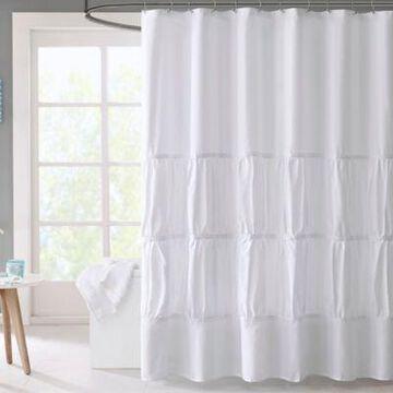 Mi Zone Mirimar Microfiber Shower Curtain in White