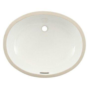 Toto Dantesca Oval Undermount Bathroom Sink, CeFiONtect LT597G#01 Cotton White