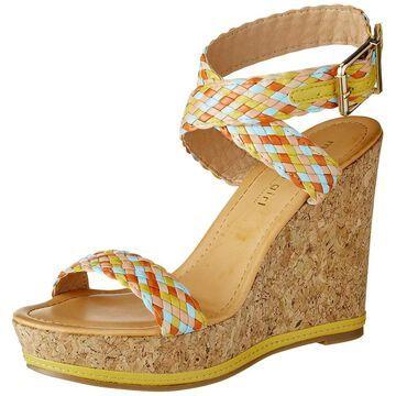 Madden Girl Women's NARLA Espadrille Wedge Sandal, Yellow/Multi, 10 M US
