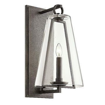 Adamson Outdoor Wall Light by Troy Lighting - Color: Grey - Finish: Antique - (B7402)