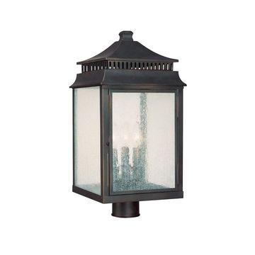 Sutter Creek 3-light Old Bronze Outdoor Post Lantern