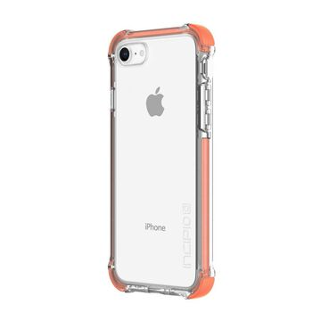 Incipio Reprieve [SPORT] iPhone 8 Case with Reinforced Shock-Absorbing Corners for iPhone 8 - Coral/Clear