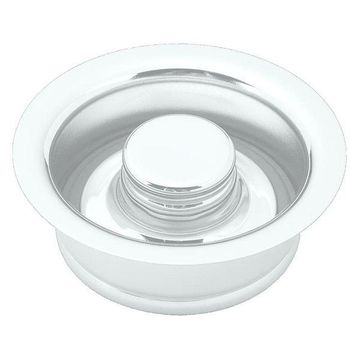Insinkerator Style Disposal Flange And Stopper In Powder Coated White
