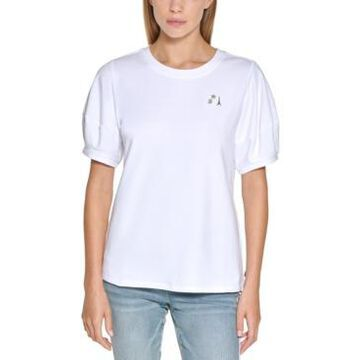 Karl Lagerfeld Paris Puff-Sleeve Sweatshirt