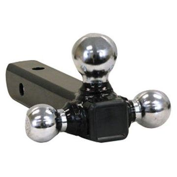 Buyers Tubular Tri-Ball Hitch, Chromeballs