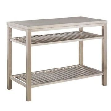 Home Styles Stainless Steel Kitchen Island
