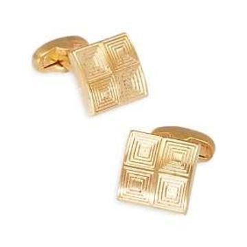 Egara Matte Gold Geometric Cufflinks