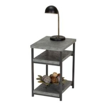 Household Essentials Slate Faux Concrete Low Side Table