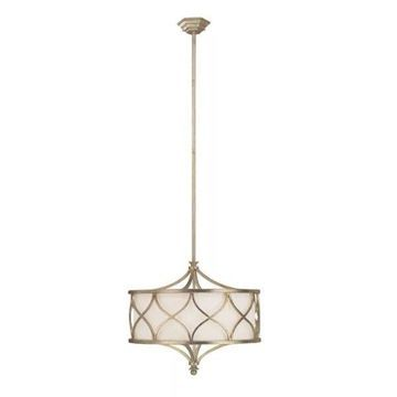 Capital Lighting Pendant w/ Frosted Glass, Winter Gold Finish (new damaged box)