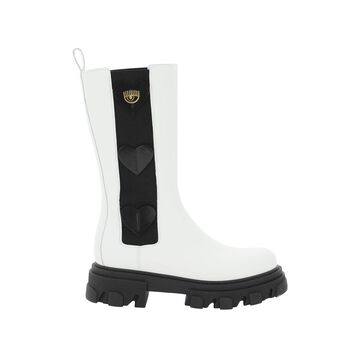 Chiara Ferragni Hearts Combat Boots