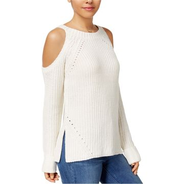 Hippie Rose Womens Cold Shoulder Pullover Sweater