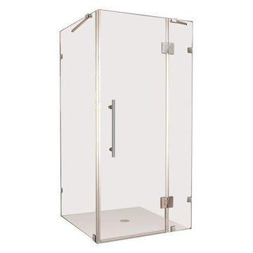 Aston Avalux Frameless Shower Enclosure, Stainless Steel, 39