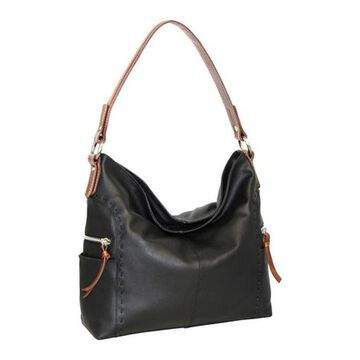 Nino Bossi Women's Kyah Leather Hobo Bag Black - US Women's One Size (Size None)
