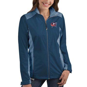 Women's Antigua Navy Columbus Blue Jackets Revolve Full-Zip Jacket