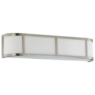 Nuvo Lighting Odeon 3-Light Wall Sconce with Satin White Glass