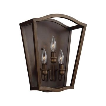 Feiss Yarmouth 12.5-in W 1-Light Painted Aged Brass Wall Sconce