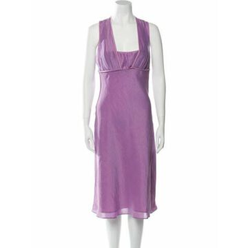 Silk Midi Length Dress Purple